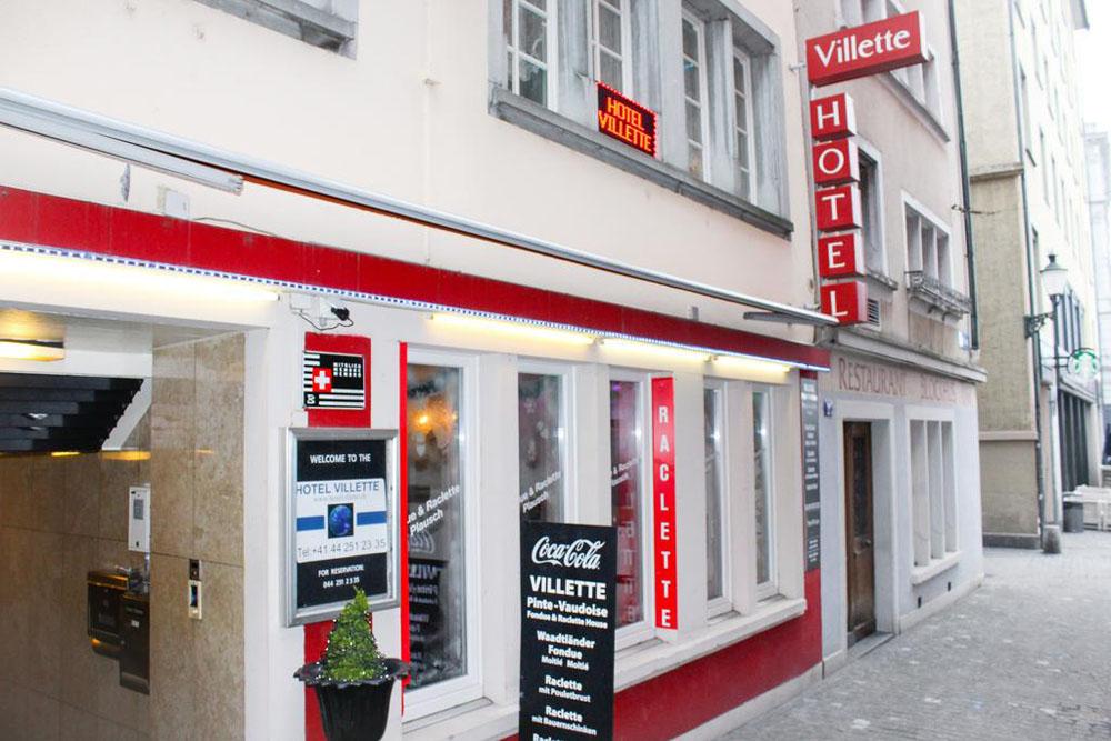 Hotel villette city center bellevue zurich switzerland for Boutique hotel zurich centre